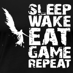 Sleep Wake Eat Game Repeat - Frauen Premium T-Shirt