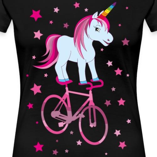Kunstrad | Einhorn Pink - Frauen Premium T-Shirt