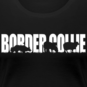 BORDER COLLIE WORKING DOG - Frauen Premium T-Shirt