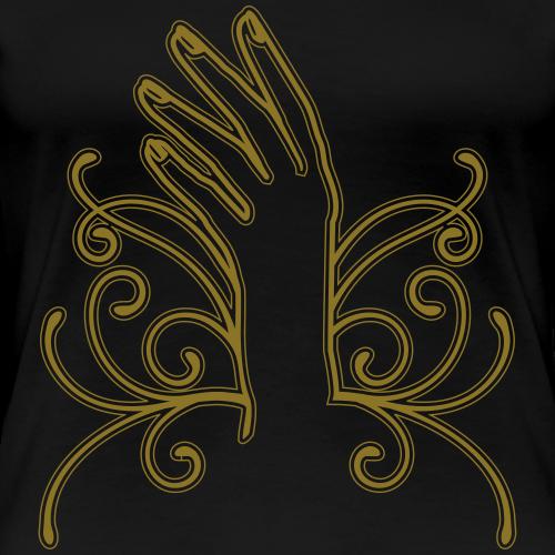 Artistic Hand and Nails - Vrouwen Premium T-shirt