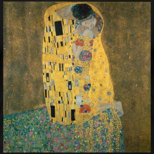 Gustav Klimt: Der Kuss - Frauen Premium T-Shirt