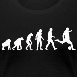 Football Evolution / Soccer évolution - Black Edition - T-shirt Premium Femme