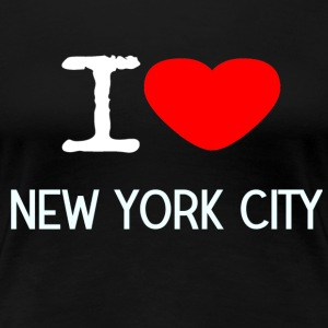 I LOVE NEW YORK CITY - Premium T-skjorte for kvinner