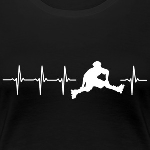 I love roller skating (skate heartbeat) - Women's Premium T-Shirt