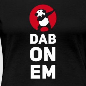 dab on em dabbing panda football touchdown mooving - Frauen Premium T-Shirt