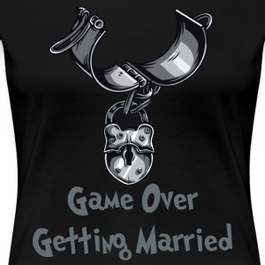 Game Over Getting Married - Premium-T-shirt dam