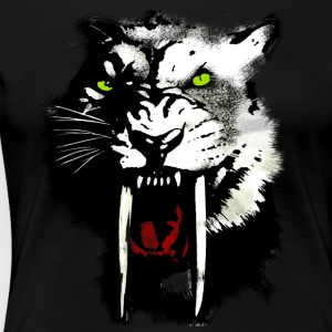 saber tooth tiger cool dab crass blood swag LOL - Women's Premium T-Shirt