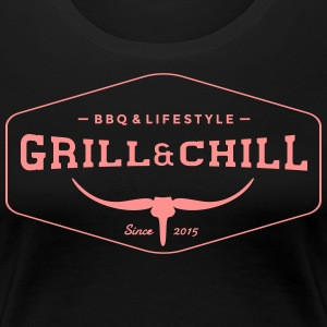 Grill and Chill / barbecue e Lifestyle Logo 1 - Maglietta Premium da donna