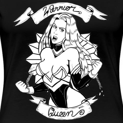 Warrior Queen (black/white) - Frauen Premium T-Shirt