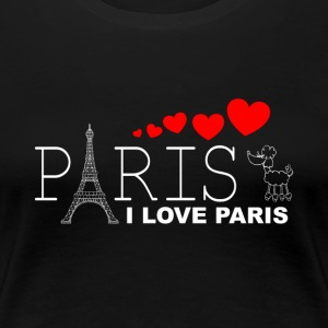 I LOVE PARIS 2WR - Dame premium T-shirt