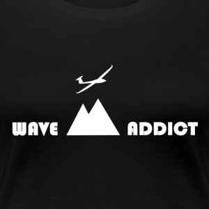 Wave addict white - Women's Premium T-Shirt