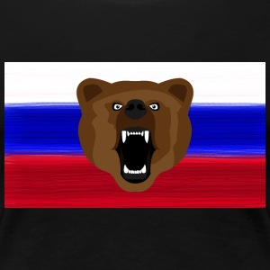 Russian Bear / Russia / Россия, Rossia, flag - Women's Premium T-Shirt