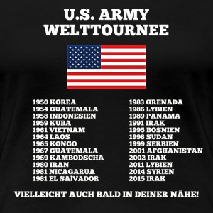 US Army World Tour - Premium-T-shirt dam
