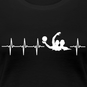 I love water polo (water polo heartbeat) - Women's Premium T-Shirt