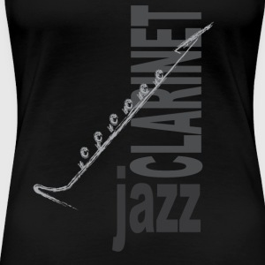 Jazz Klarinette - Frauen Premium T-Shirt