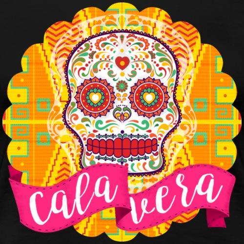 Calavera mexicana de azúcar del Día de los Muertos - Camiseta premium mujer