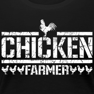 Chicken farmer, white - Women's Premium T-Shirt
