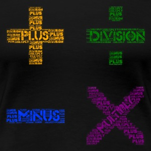 Plus Minus Multiply & Divison - Women's Premium T-Shirt