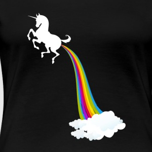 Unicorn Farting Rainbow - Premium-T-shirt dam