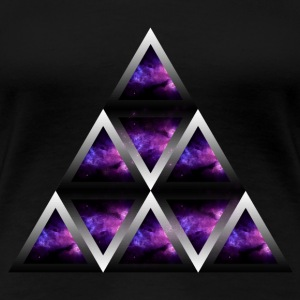 Space Shape Pyramid - Premium-T-shirt dam