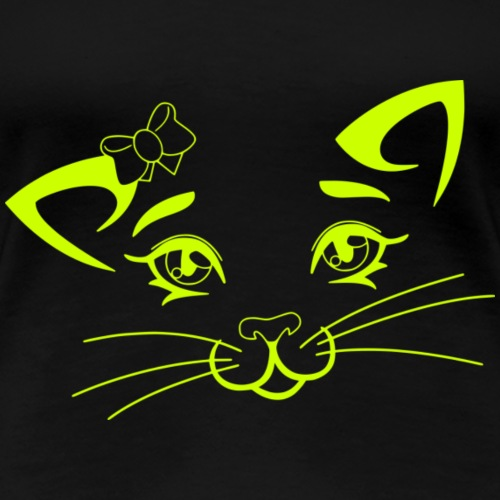 Kiky Cat green - Frauen Premium T-Shirt