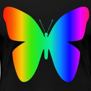 Rainbow Butterfly - Women's Premium T-Shirt