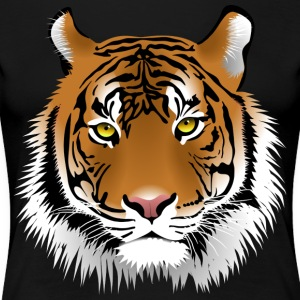 Tiger head with whiskers majestically - Women's Premium T-Shirt