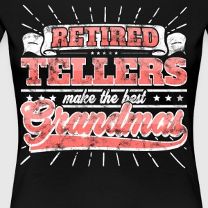 Retired Plates Make The Best Grandmas Shirt - Women's Premium T-Shirt
