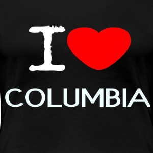 I LOVE COLUMBIA - Women's Premium T-Shirt