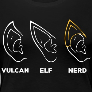 Vulcan Elf Ear Nerd - Women's Premium T-Shirt