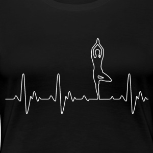 Heart of Yoga - T-shirt Premium Femme
