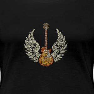 Guitar with Wings - T-shirt Premium Femme