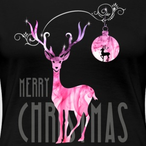 rentier pink Christmas advent nicholas girl woman - Women's Premium T-Shirt