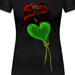 Love Birds av BlackenedMoonArts - Premium T-skjorte for kvinner