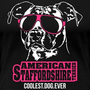 AMERICAN STAFFORDSHIRE coolest dog ever - Women's Premium T-Shirt