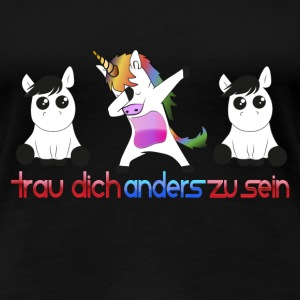 Einhorn anders - Frauen Premium T-Shirt
