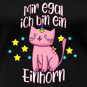 Mir egal ich bin ein Einhorn. Süße Geschenkidee - Frauen Premium T-Shirt