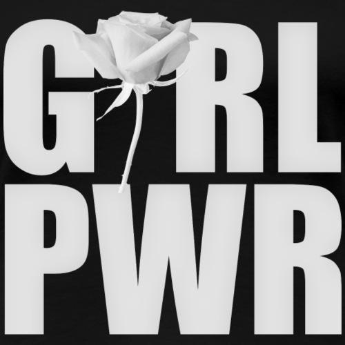Girl power white - Frauen Premium T-Shirt