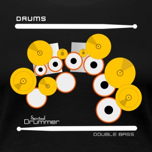 Drums Double Bass White - T-shirt Premium Femme