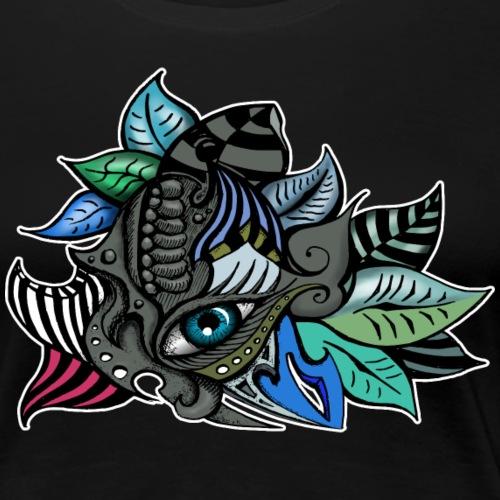 Auge abstrakt mit Blättern - Frauen Premium T-Shirt