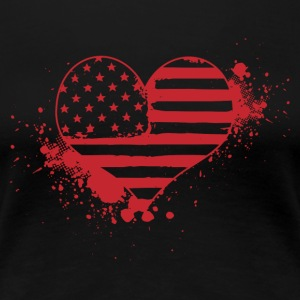 USA hjärta! USA! Patriot! Amerika! - Premium-T-shirt dam