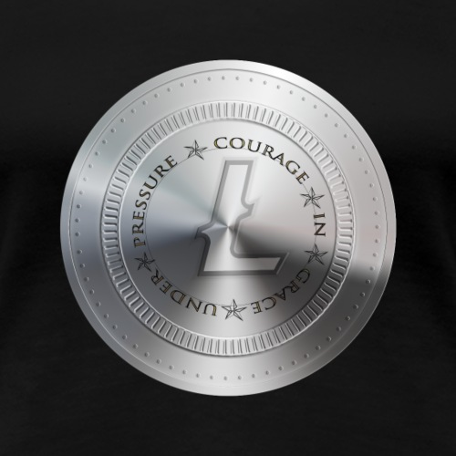 LITECOIN COURAGE IN GRACE UNDER PRESSURE - T-shirt Premium Femme
