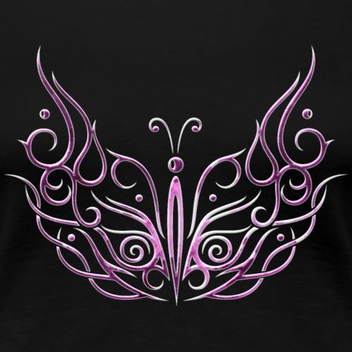 Großer Schmetterling in pink und weiß. Sommer. - Frauen Premium T-Shirt