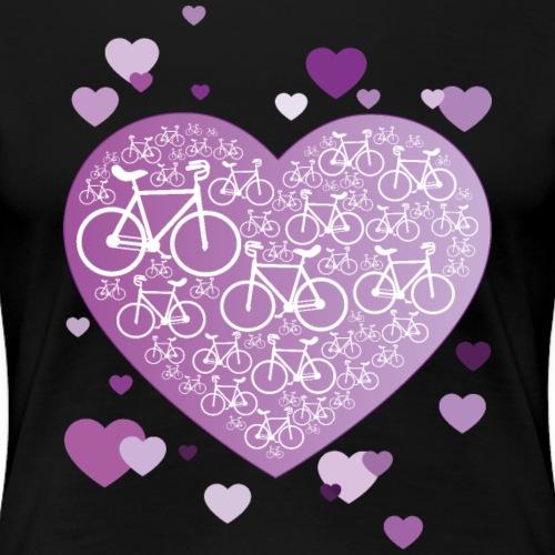 Kunstrad | Mein Herz lila - Frauen Premium T-Shirt