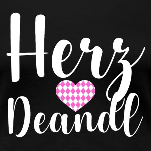Herz Deandl - Oktoberfest - Frauen Premium T-Shirt