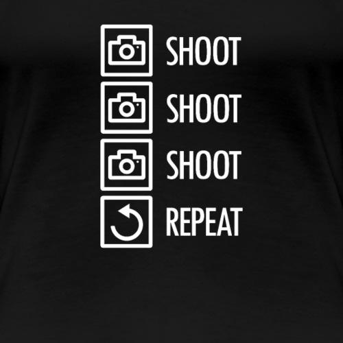 Fotografie - Shoot Shoot Shoot Repeat - Frauen Premium T-Shirt