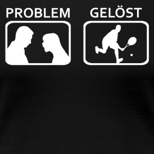Tennis Problem geloest - Frauen Premium T-Shirt