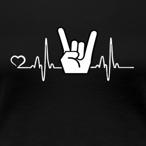 Rock'n'Roll - Heartbeat - Premium T-skjorte for kvinner