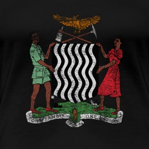 Zambia Coat of Arms Zambia Symbol - Women's Premium T-Shirt