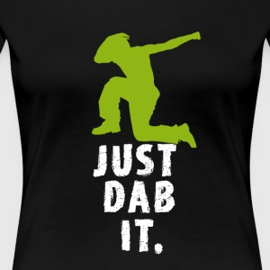 dab green man Dabbing touchdown Football fun cool - Frauen Premium T-Shirt
